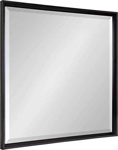 Kate and Laurel Calter Framed Square Wall Mirror, 29.5 x 29.5, Black