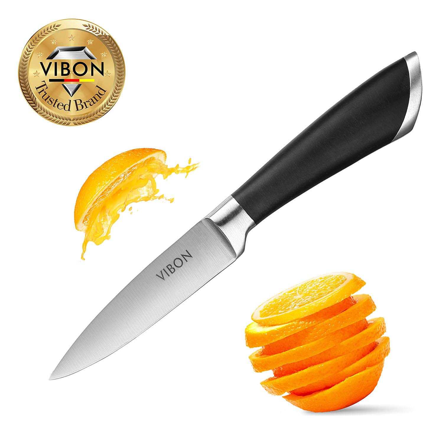 VIBON 3.5 Inches Paring Knife, Fruit Knife Ktchen Vegetable Cutlery by VIBON