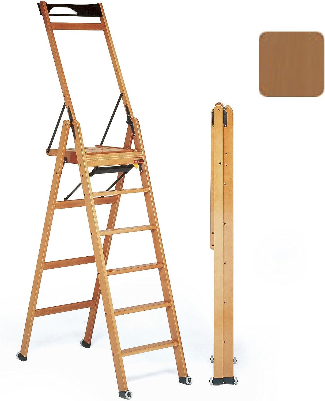 Foppapedretti – Escalera nogal con 6 niveles con ruedas – Foppapedretti tipo la escala 6 nogal: Amazon.es: Bricolaje y herramientas