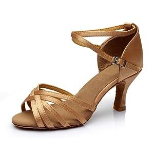 cdc6d544a9014 VESI-Chaussures a Talons Hauts de Danse Latine Sandales pour Femme