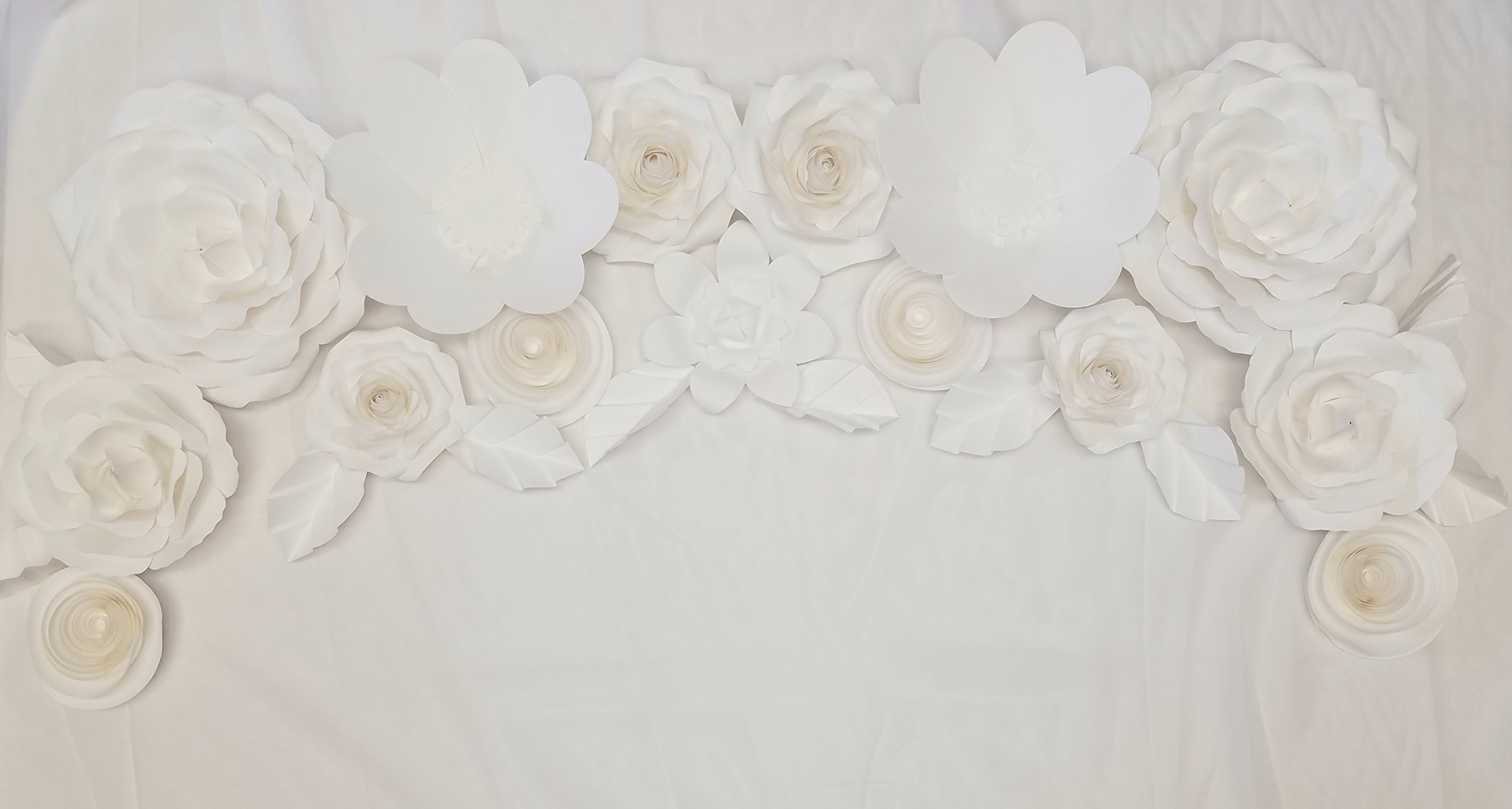 Giant Wedding Paper Flower Decoration Set 25PC, Wedding Decor, Wedding Backdrop, Wedding Flowers, Wedding Potography, Flower Wall Decor, Backdrop, Photobooth, Bridal Shower, Centerpiece