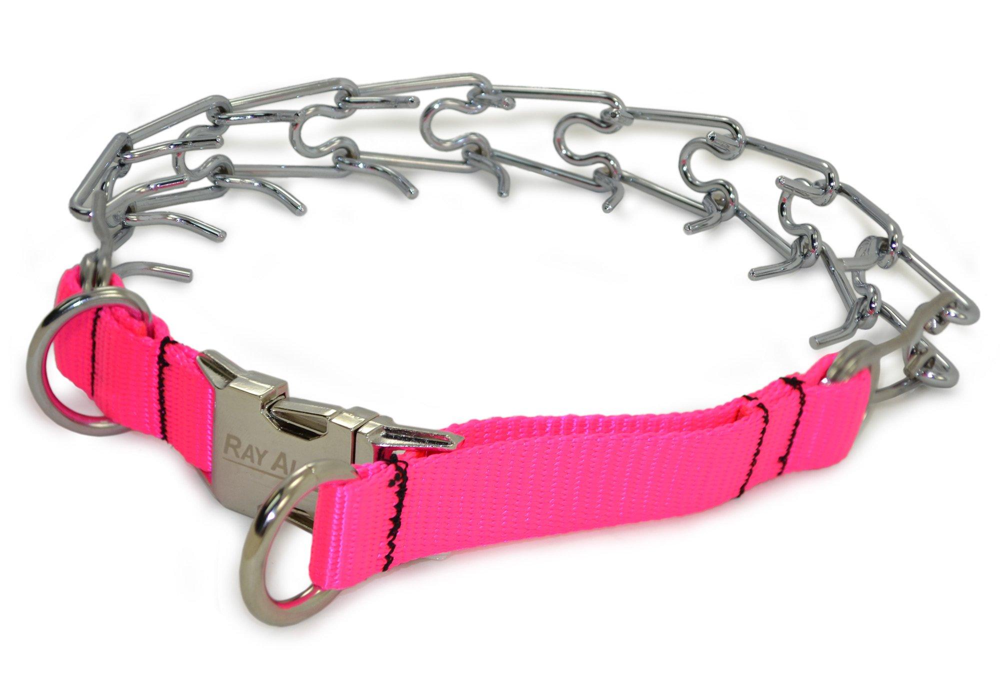 Ray Allen Nylon Quick-release Pinch Training Collar (Pink)