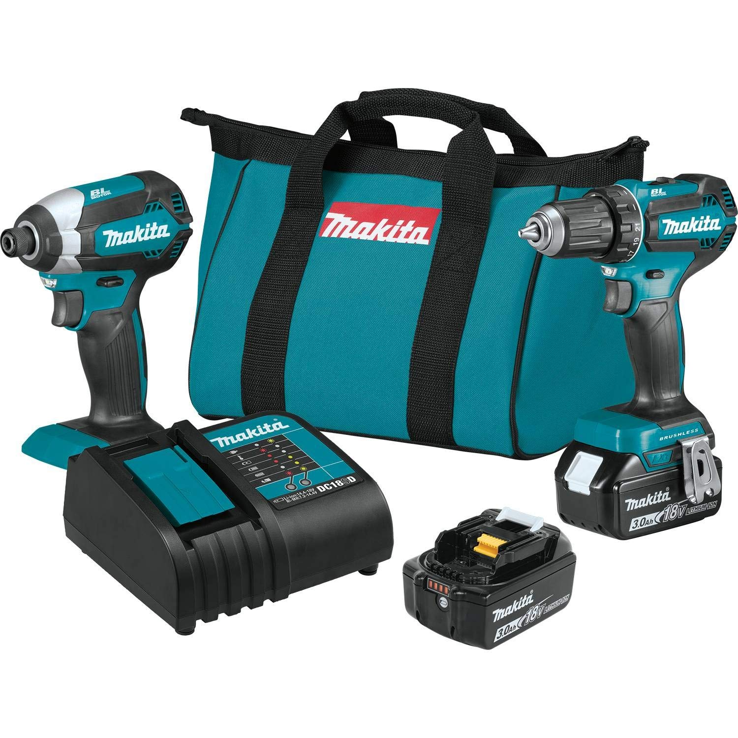 Makita XT281S 18V LXT 2-Pc. Combo Kit 3.0Ah