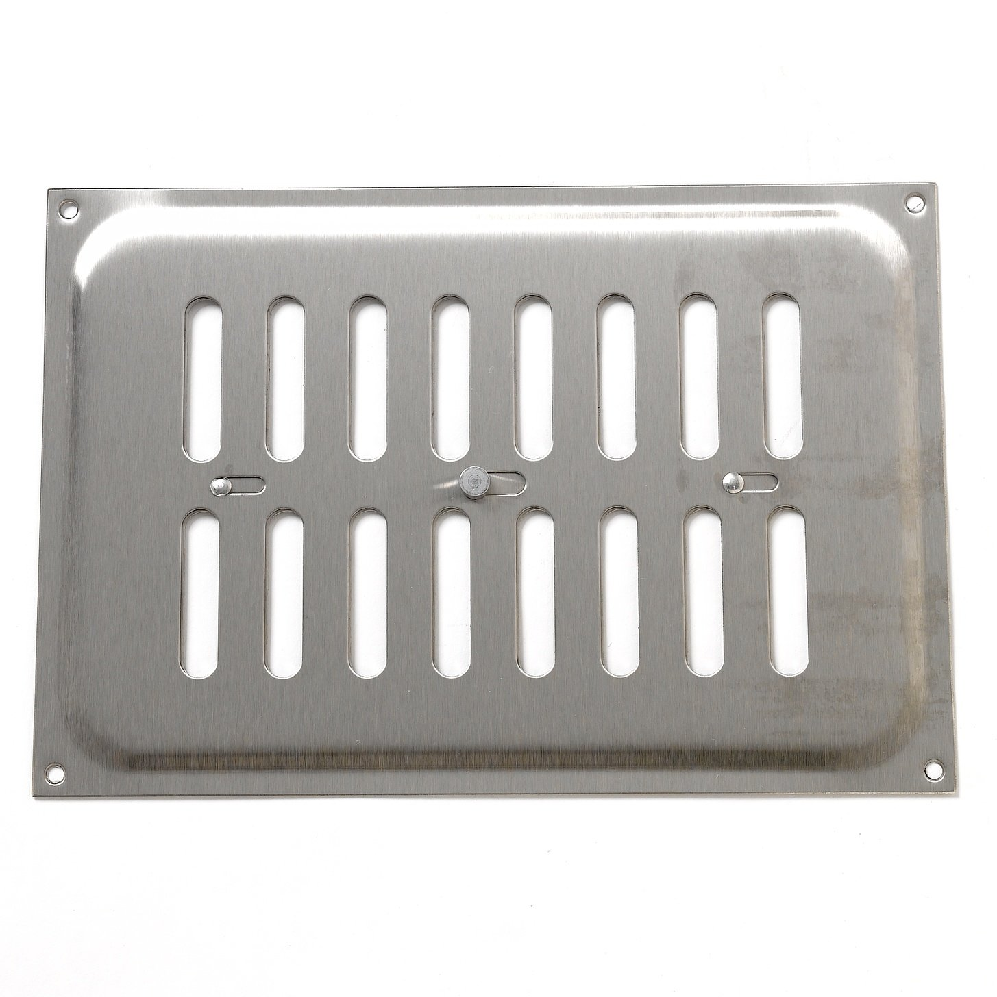Bulk Hardware BH00535 Fully Adjustable Open & Close Air Vent Grille, 240 x 165 mm (9.45 x 6.5 inches) - Stainless Steel