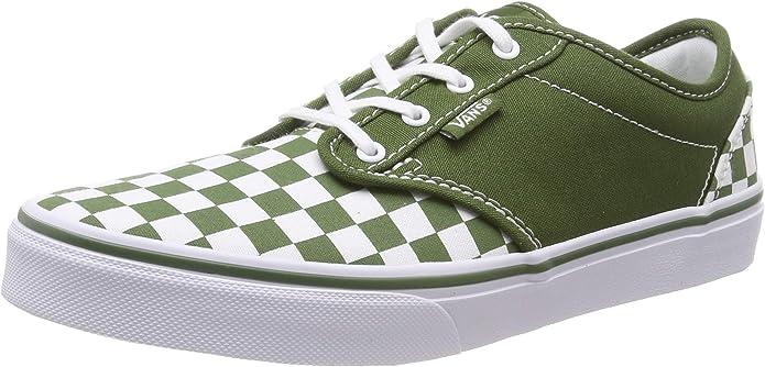 Vans Atwood Sneakers Jungen Mädchen Kinder grün/weiß kariert