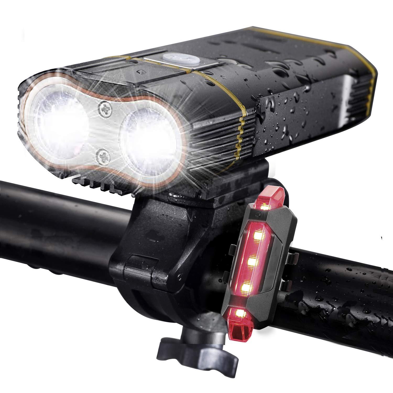 Dikomo Bike Light Front And Back 2400 Lumen 2 Led Best