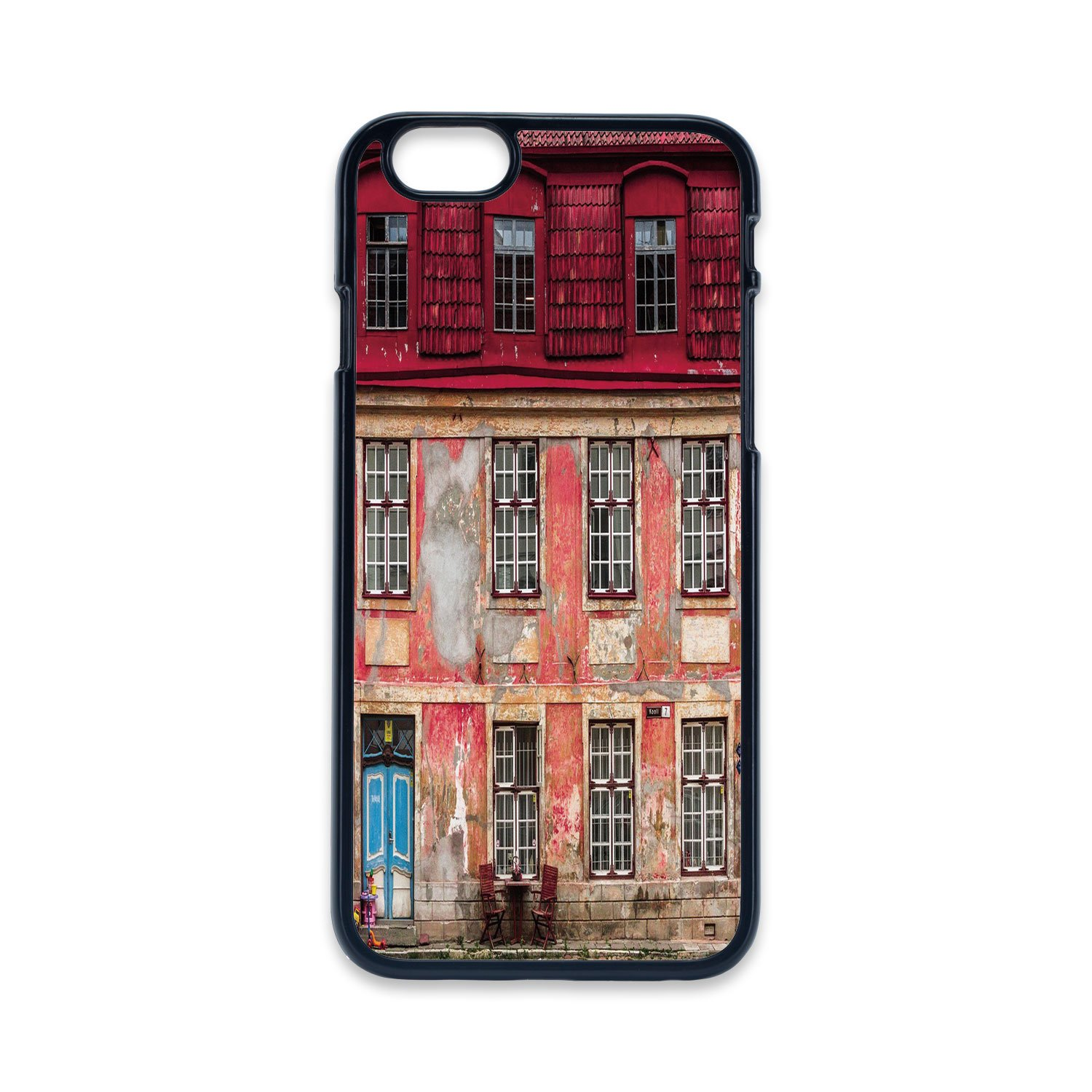 d554e1cfce9 Phone Case Compatible with iPhone5 iPhone5s 2D Print Black Edge,Urban,Old  Aged Building in Ancient City Tallinn Estonia Antique Structure Windows  Decorative ...