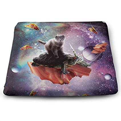 Amazon Com Mars Sight Space Cat Riding Turtle Unicorn Seat Cushions