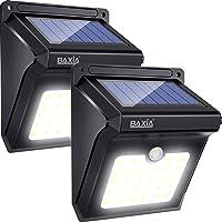 BAXIA TECHNOLOGY Solar Lights,Solar Motion Sensor Lights Outdoor, Waterproof Wireless Bright 28 LED Sensor Light for Outdoor Gate, Door, Wall,Driveway, Garden, Patio, Steps,Yard, Deck(2 Packs,400LM)