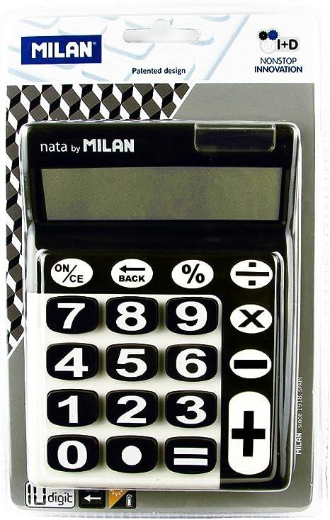 Milan 150610KBL - Calculadora de sobremesa, 10 dígitos, color ...