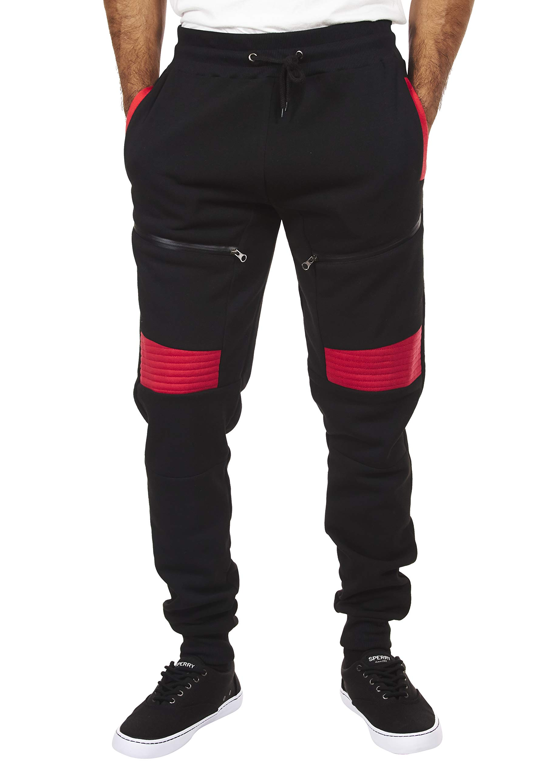 Encrypted Moto Men s Tapered Joggers with Pockets