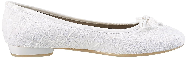 Jenny Pisa Damen Pisa Jenny Geschlossene Ballerinas Weiss (Weiss-34) ffb981