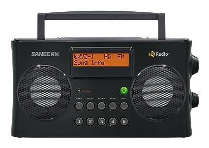 Amazon.com: Sangean All in One Portable HD AM/FM Dual Alarm ...