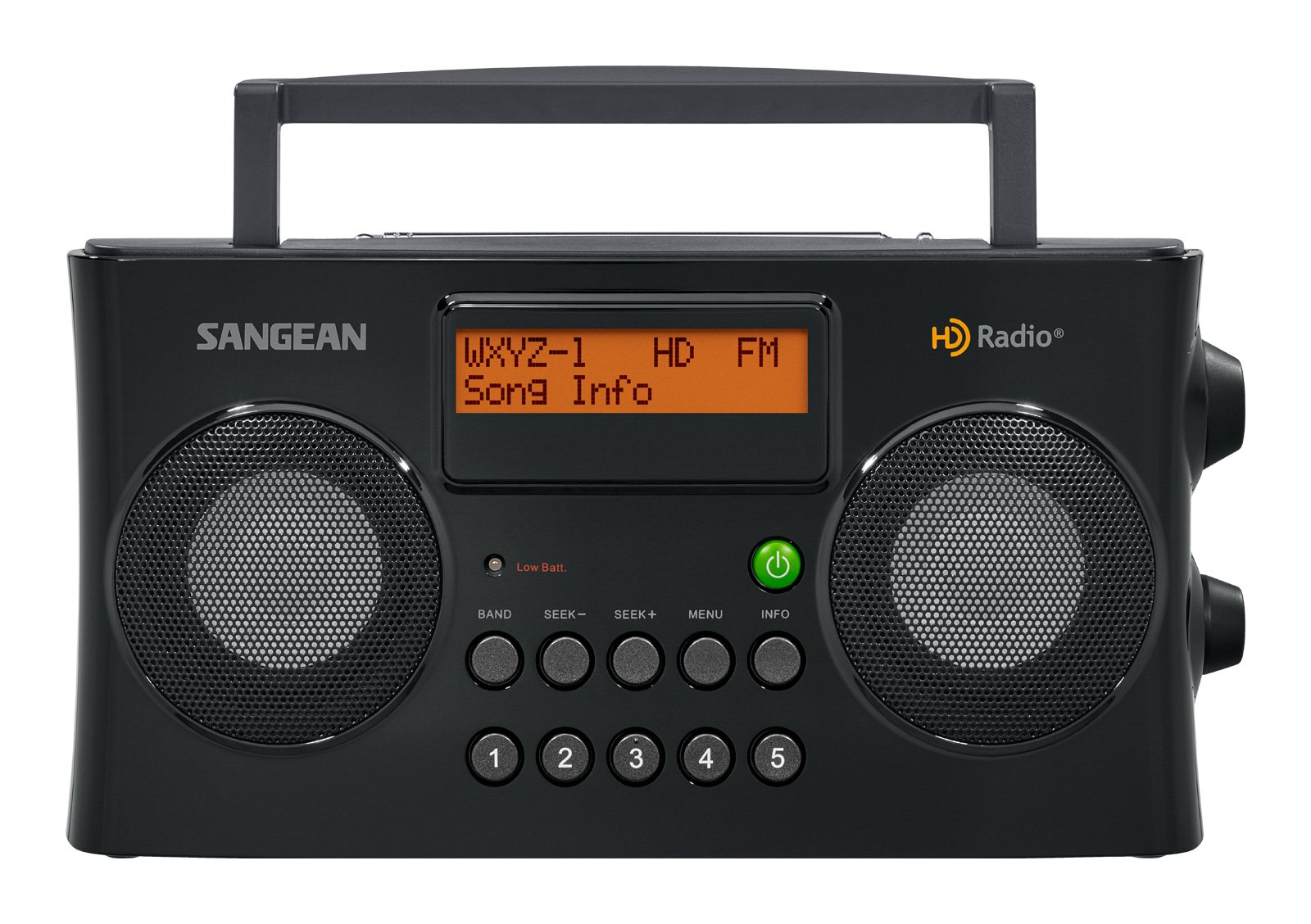 Sangean All in One Portable HD AM/FM Dual Alarm Clock Radio with Large Easy to Read Backlit LCD Display by Sangean