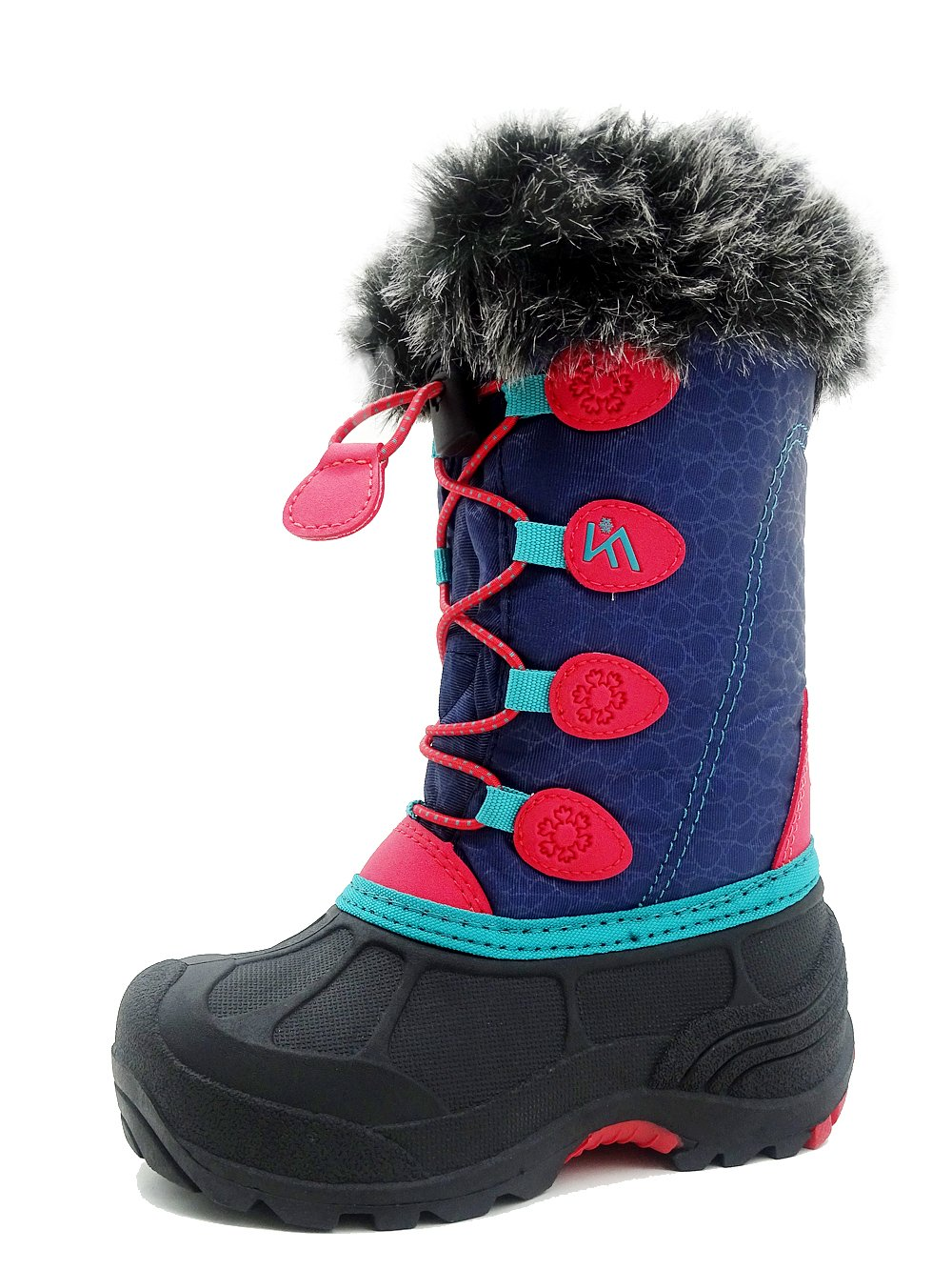 Kids Winter Snow Boots Waterproof and Insulated for Girls and Boys (12 M US Little Kid, Red)