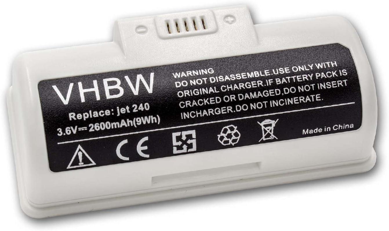 vhbw batteria compatibile con iRobot Braava Jet 245 M6134 robot pulizia pavimento M6 250 2600mAh, 3.6V, Li-Ion Jet M6110