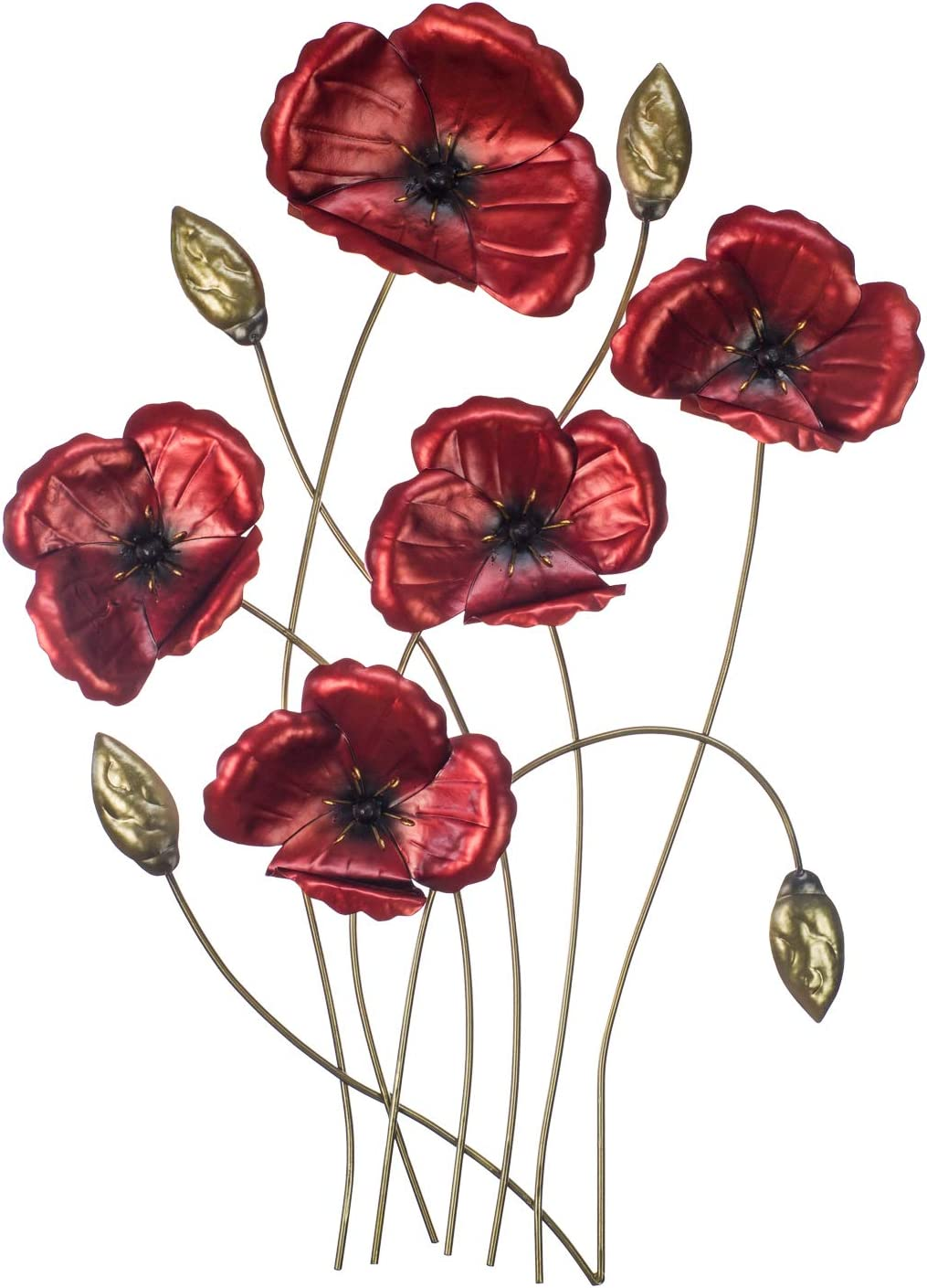 """The Creative Critters Poppy Wall Decor - Perfect for That Special Occasion Gift - 3D Metal Wall Art Design - Hand-Painted -23.5"""" x 17""""- Home Decoration"""