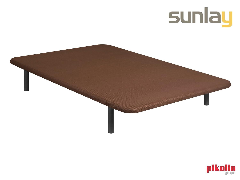 ACOMODA'T Base tapizada Basic 3D Wengué - Sunlay 90x182 cm