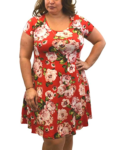 Urban Rose Womens Dress with Necklace - Plus-Size, Short ...
