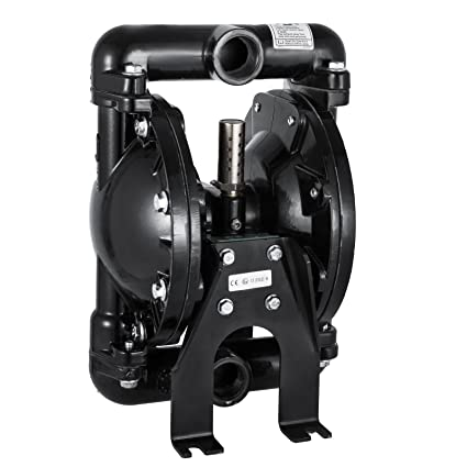 Happybuy Air-Operated Double Diaphragm Pump 1 inch Inlet Outlet Aluminum 35  GPM Max 120PSI for Chemical Industrial Use, QBY4-25LF46-1inch-35