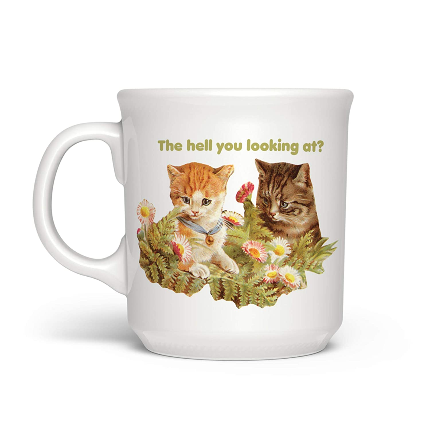 Fred 5239529 SAY ANYTHINGThe Hell You Looking At Mug 16-Ounce Assorted