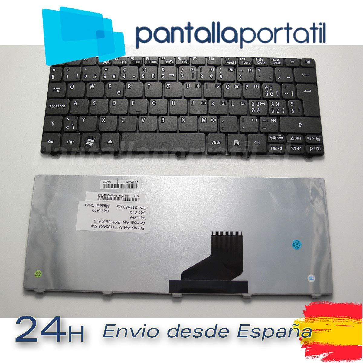 Desconocido Teclado Sueco Aspire One 533 D260 D270 D255 D257 ZH7 Sueco (Ver Foto): Amazon.es: Electrónica