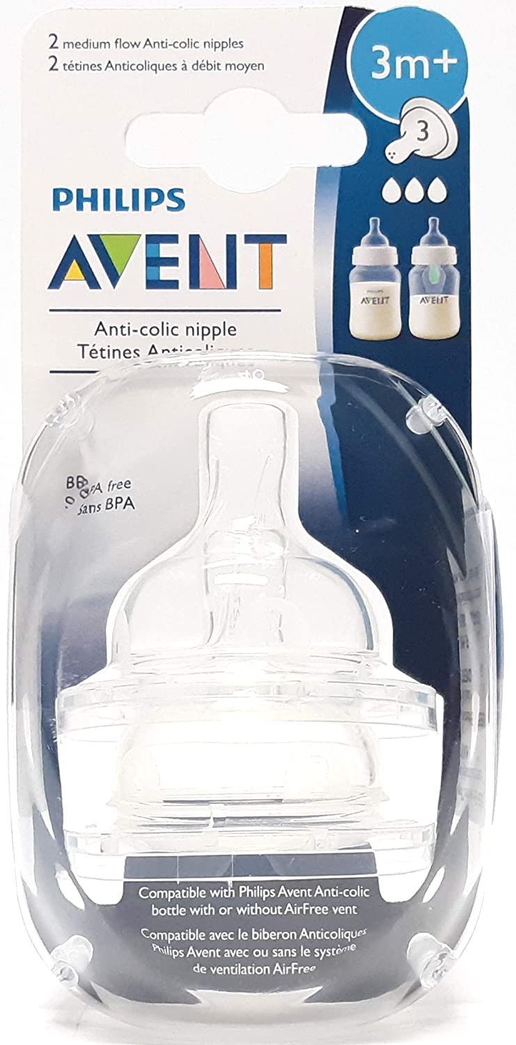 Slow Flow Philips AVENT 2 Count BPA Free Classic Nipple