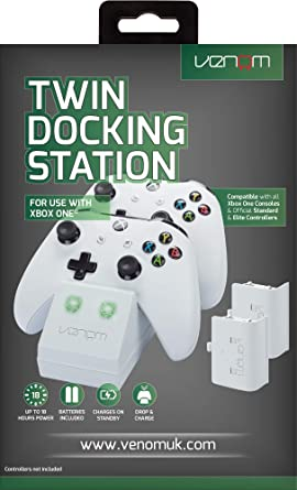 Venom - Twin Docking Station & Battery Packs Con Cubiertas, Color Blanco (Xbox One): Amazon.es: Videojuegos