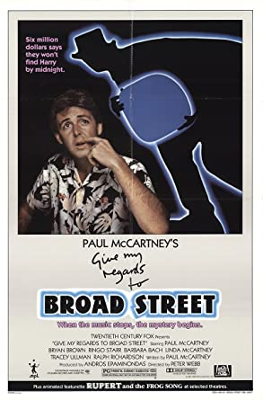 """Give My Regards to Broad Street 1984 Authentic 27"""" x 41"""" Original Movie Poster"""