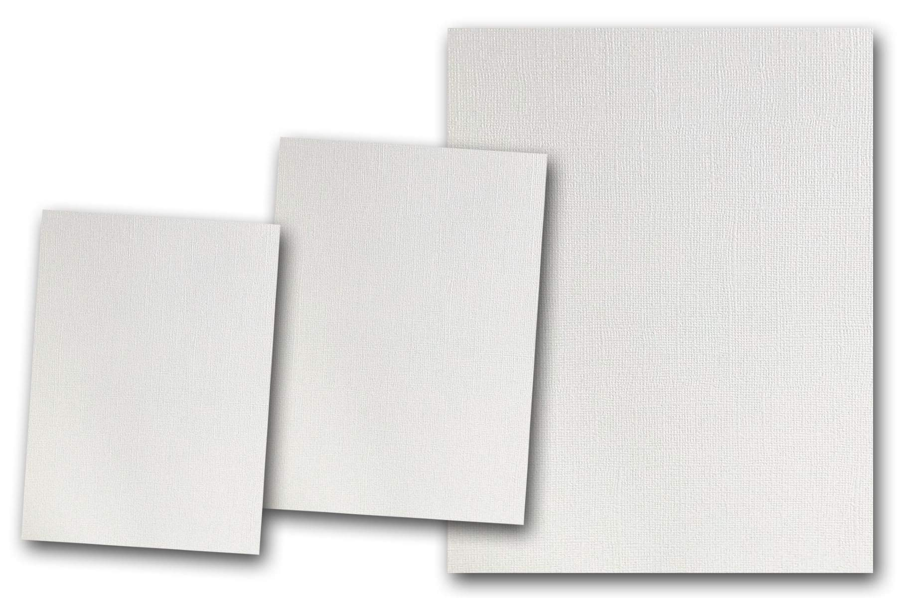 Premium Pearlized Metallic Textured Wedding Cake White Card Stock 80 Sheets - Matches Martha Stewart Wedding Cake - Great for Scrapbooking, Crafts, Flat Cards, DIY Projects, Etc. (5 x 7) by Discount Cardstock
