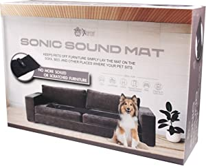 Extreme Consumer Products Sonic Sound Repellent Scram Mat for Dogs and Cats to Keep Pets Off Furniture and Counter Tops