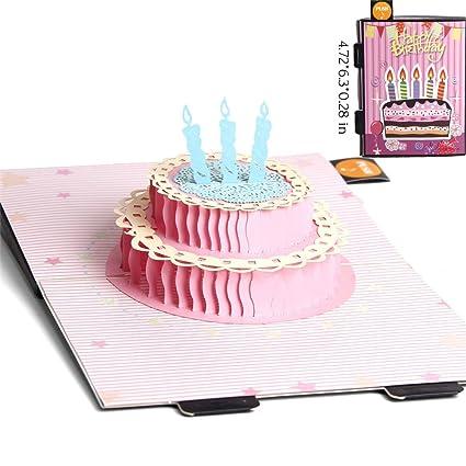 Tarjeta de cumpleaños Lovoca, tarjeta desplegable, tarjeta ...