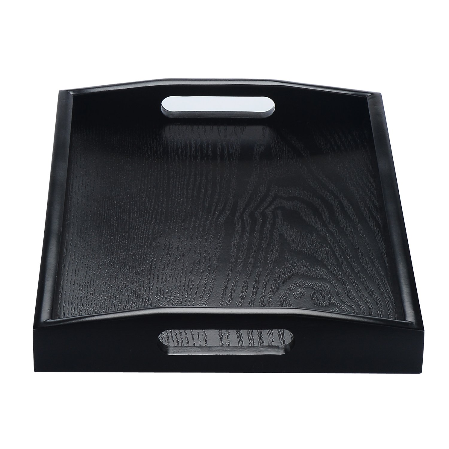 JPCRAFT Rectangle Wooden Serving Tray, Black, 14 by 9-Inch by JPCRAFT (Image #4)