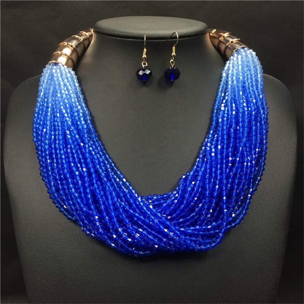 Halskette Ohrringe eingelegt mit Faux Perle Damen Schmuck Set Monterey Kreative Seepferdchen Seestern Form Anh/änger golden