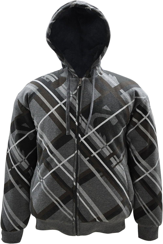 Simplicity Mens Casual Hood Jacket Slant Stripes