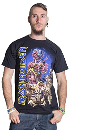 4023a113891 Iron Maiden Somewhere In Time Powerslave Rock Official Tee T-Shirt Mens  Unisex (XX-Large)  Amazon.co.uk  Clothing