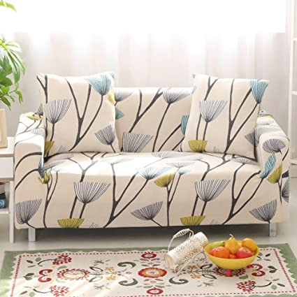 Exceptionnel Iisutas Stretch Couch Covers Sofa Slipcovers Fitted Cover Seat Furniture  Protector With Two Pillow Case 54u0026quot