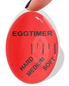 Mevis Line Egg Timer | for Soft, Medium or Hard Boiled Eggs | Kitchen Gadget That Changes Color When Done, BPA free