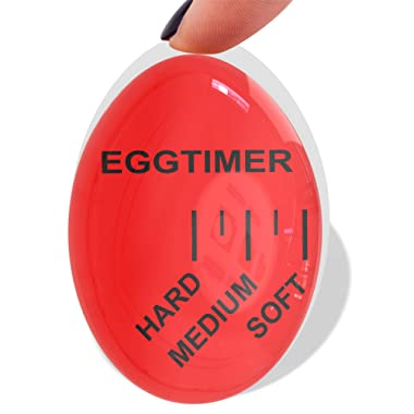 Mevis Line Egg Timer | Color Changing Egg Timer | For Boiling Soft or Hard Boiled Eggs, Bpa Free