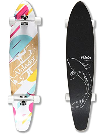 3a28bc7f86b VOLADOR 42inch Freeride Longboard Complete Cruiser (Drop Through Deck -  Camber concave)