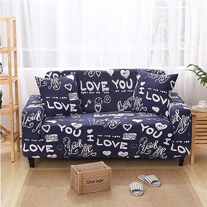 Cartoon Slipcover Sofa,Four Seasons Universal European Sofa Cover Cloth  Stretch Elastic Sofa Covers Couch