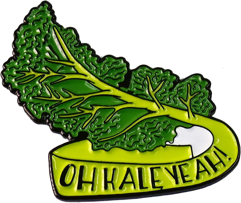 WizardPins Kale Oh Yeah Kale Healthy Food Enamel Lapel Pin