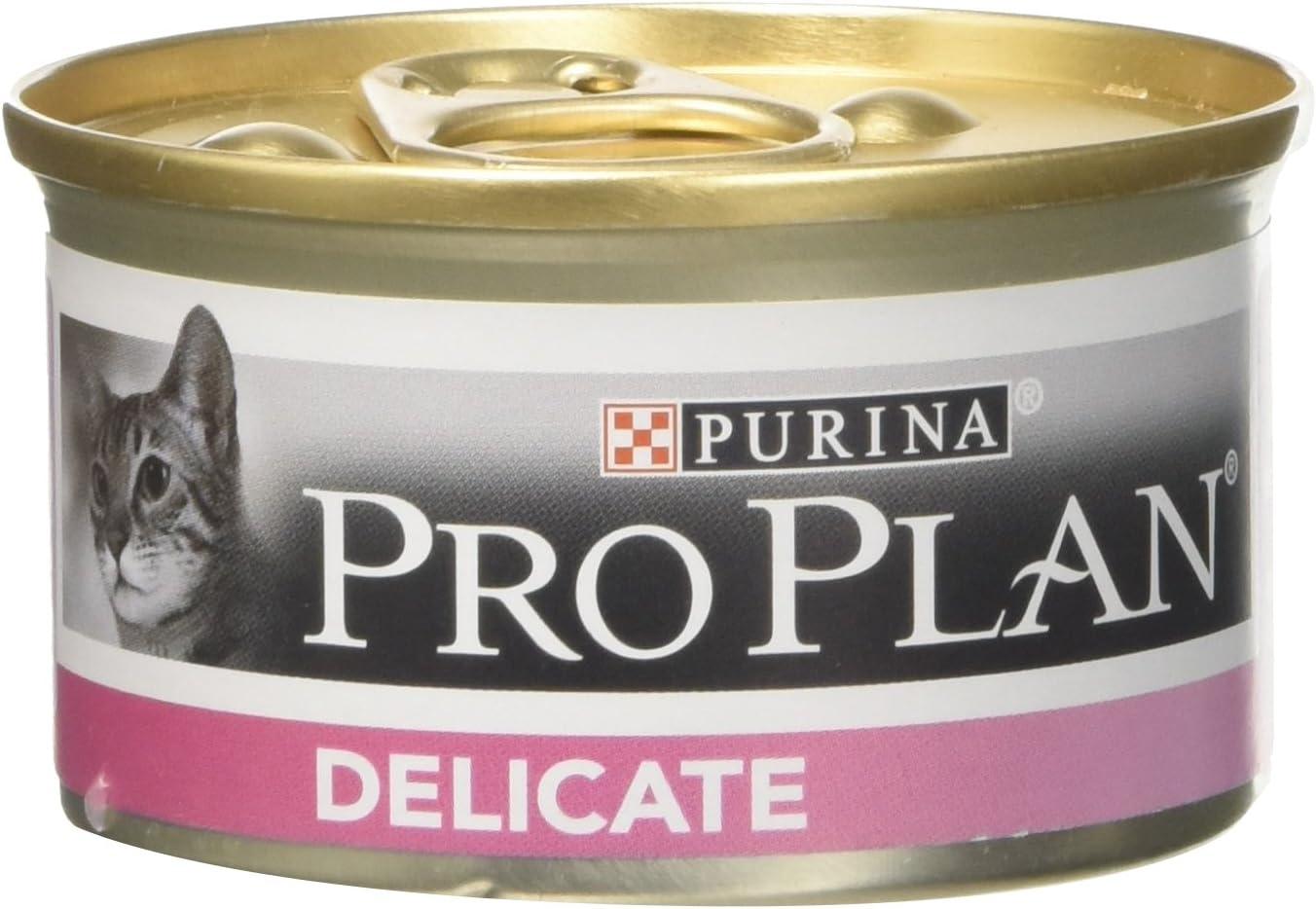 Pro-Plan - Leche para gatos delicados pavo real, 85 g, Paquete de 24