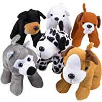Bedwina Plush Puppy Dogs - (Pack of 12) 6 Inches Tall Stuffed Animals Bulk Assorted Puppies and Cute Stuffed Plushed Dog…