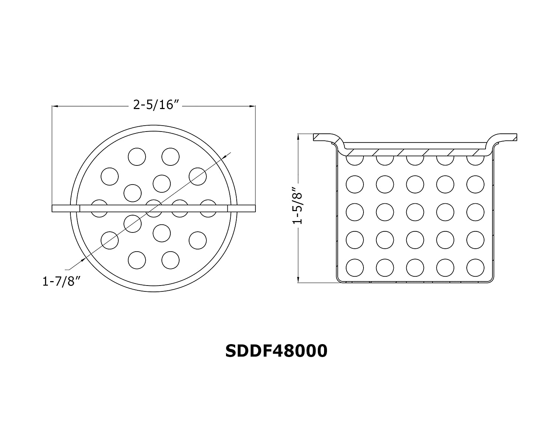 Dawn SDDF48000 Shower Drain Filter Dawn Kitchen /& Bath Products Inc.