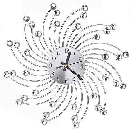 reloj de pared adhesivo grande, Sannysis mecanismo reloj vintage digital 3d