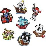 Parches de pirata para planchar o coser en la ropa, chaquetas, mochilas, bufandas, pantalones vaqueros, cojines o camisetas (7 unidades)