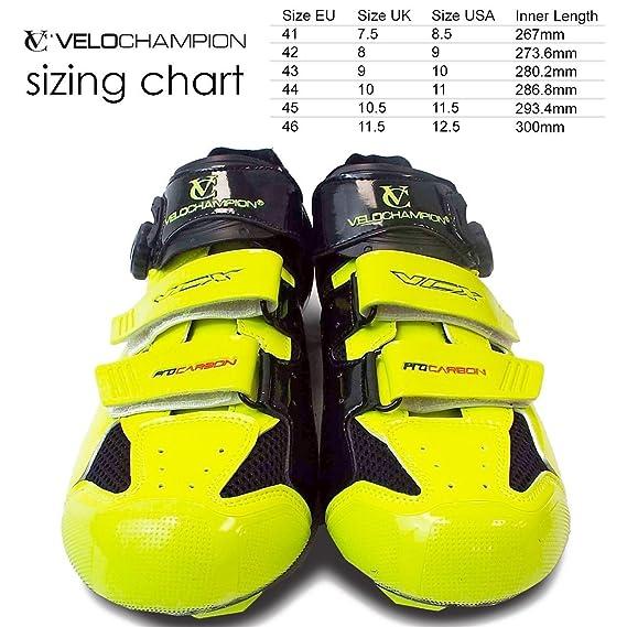 Amazon.com: VeloChampion VCX Zapatos de ciclismo. (Par) con ...