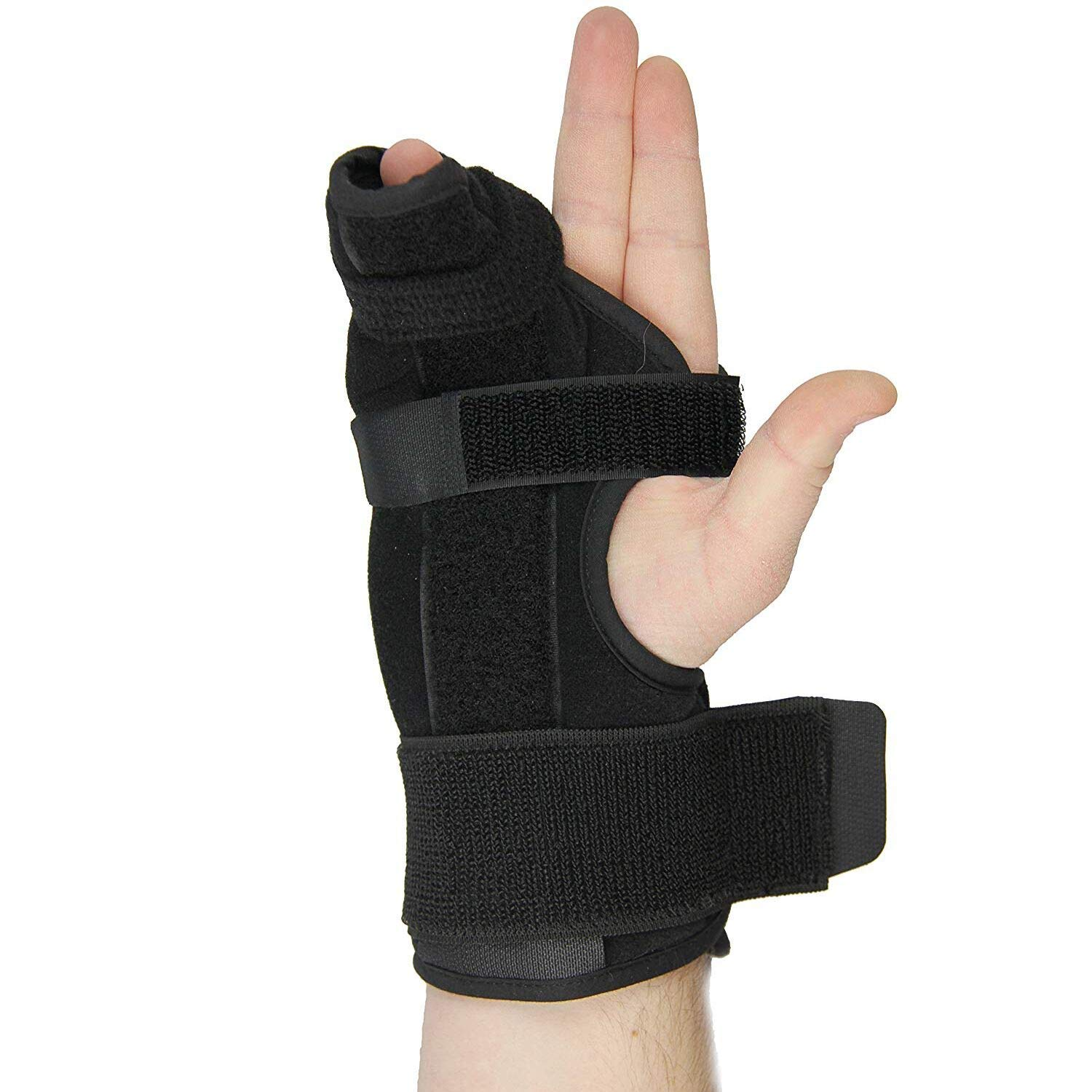 Metacarpal Splint- Boxer Splint for Right Hand, Easy to Put On and Take Off, Stabilizing Splint for Metacarpal and Hand Injuries, a U.S. Solid Product (Large)