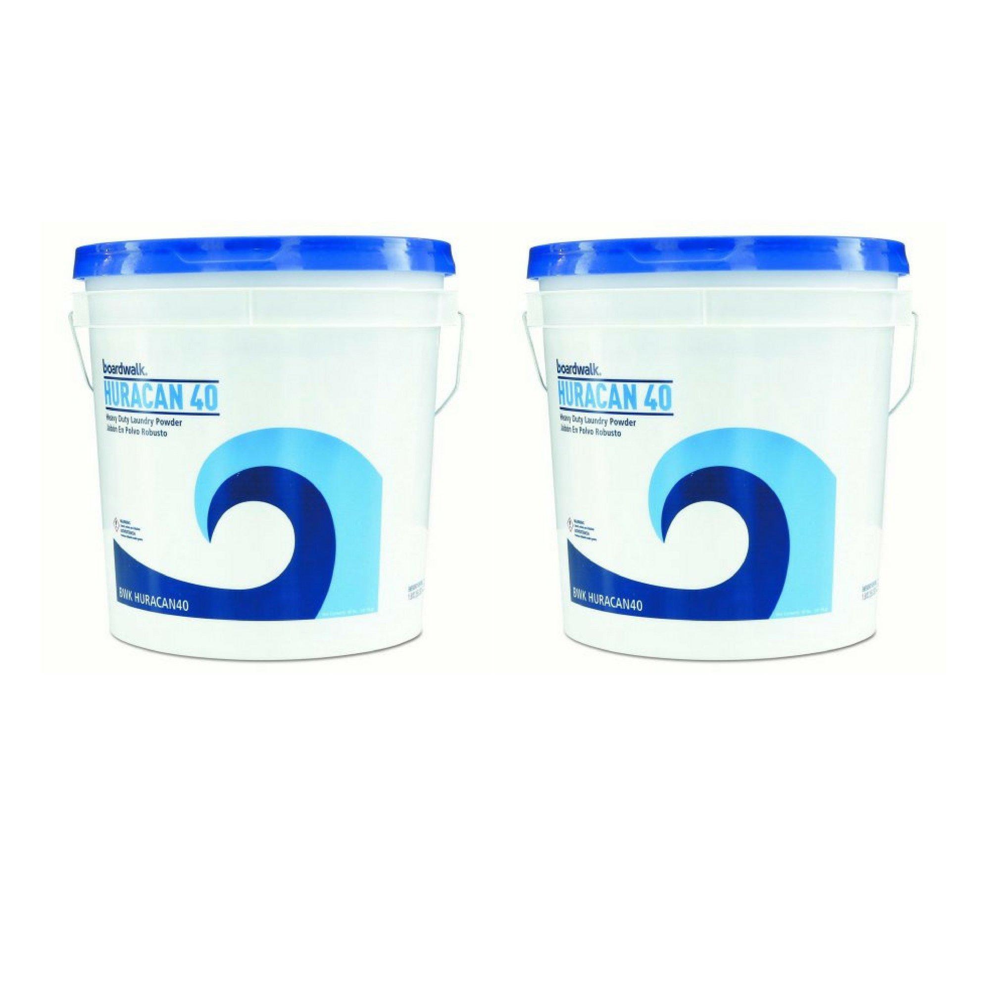 Boardwalk Low Suds Laundry Detergent, Economical, Powder, Fresh Lemon Scent, 40lb Pail - 2 Pack